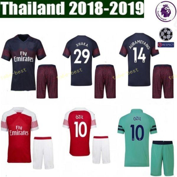 new style 18796 9cb58 FC Arsenal Soccer 8 Aaron Ramsey Set da uomo rosso blu 9 Alexandre  Lacazette 10 Mesut Ozil Football Kit completo da kits