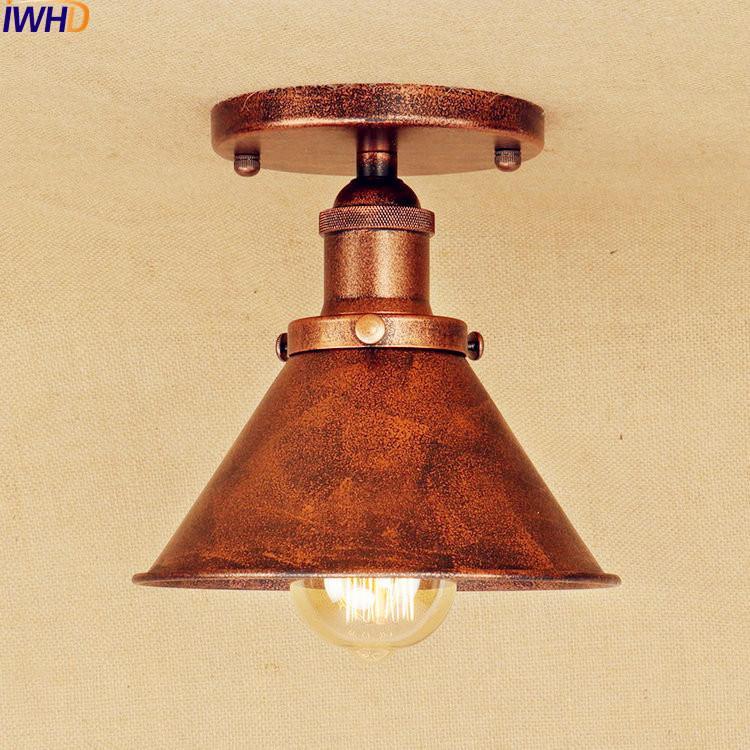 2018 antique led ceiling lamp home lighting living room loft