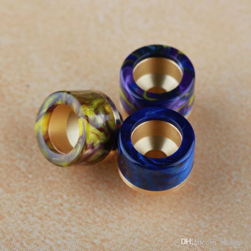 6 stili 810 Bocchino Discussione placcato oro SS resina epossidica Drip Tips Fit TFV8 principe Kennedy 528 RDA 510 baby atomizzatori serbatoio