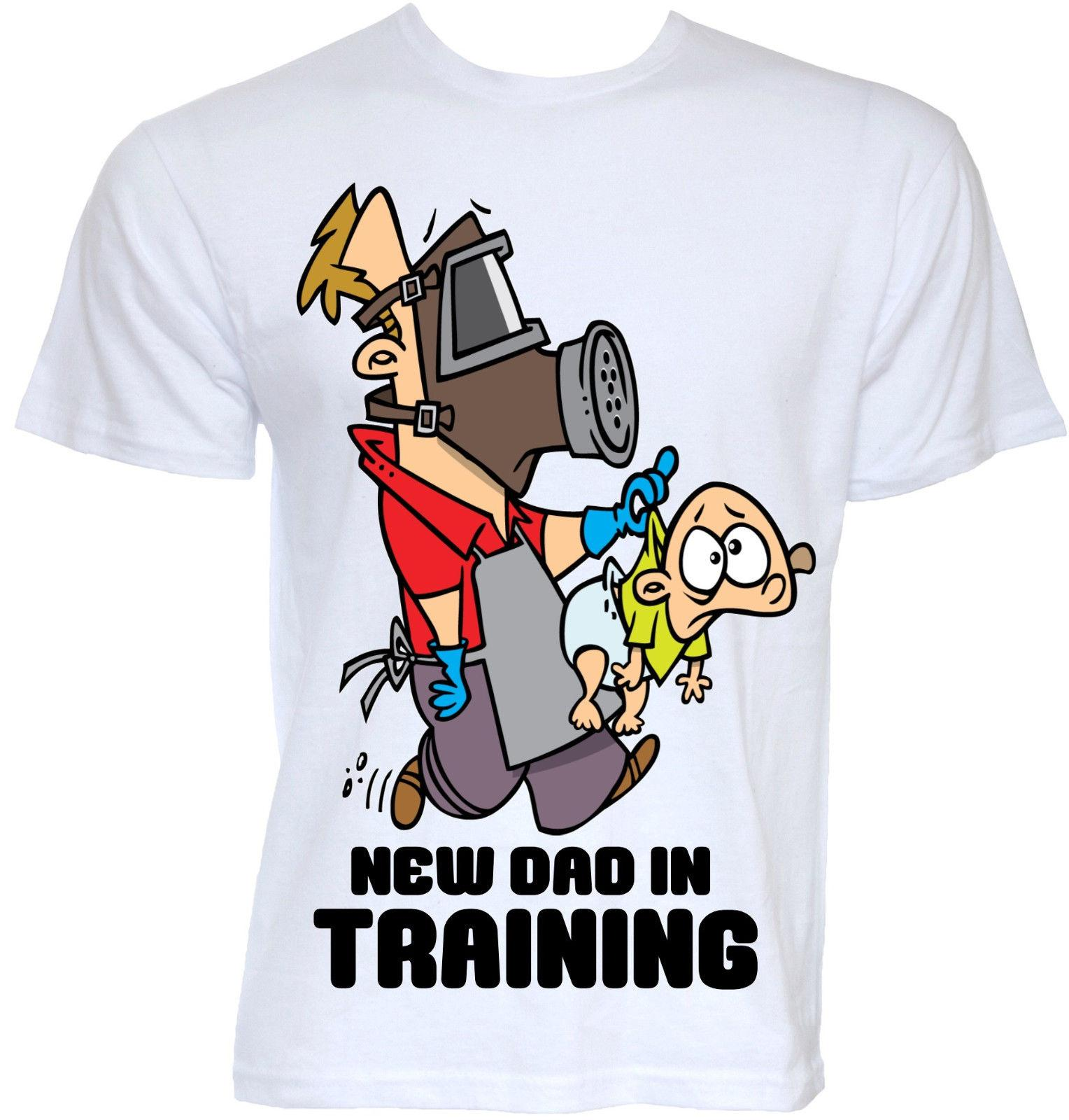 Mens Funny Cool Novelty New Daddy Dad T Shirts Baby Shower Gifts