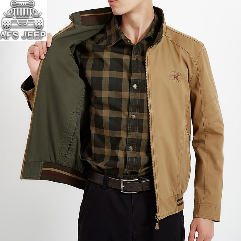 wholesale Wear-resistant Reversible Mens Jackets Autumn Winter Classic Casual 100% Cotton New Design Army Military Cargo Coats
