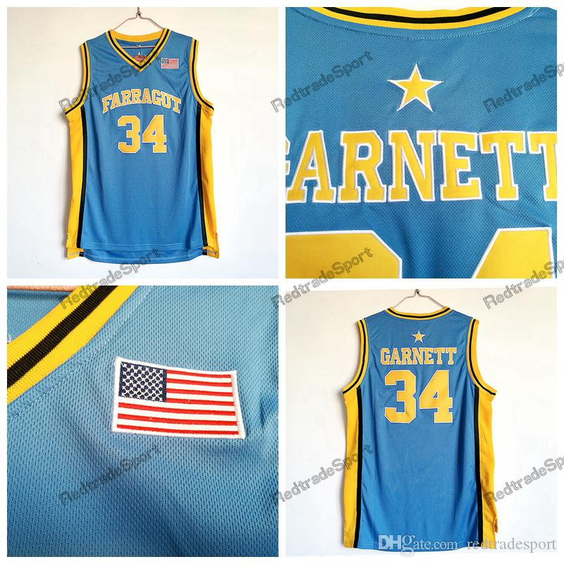 Compre Mens Vintage 34 Kevin Garnett Farragut High School Camisas De  Basquete Azul Claro Barato Kevin Garnett Costurado Camisas De  Redtradesport eb87fe4ae0300