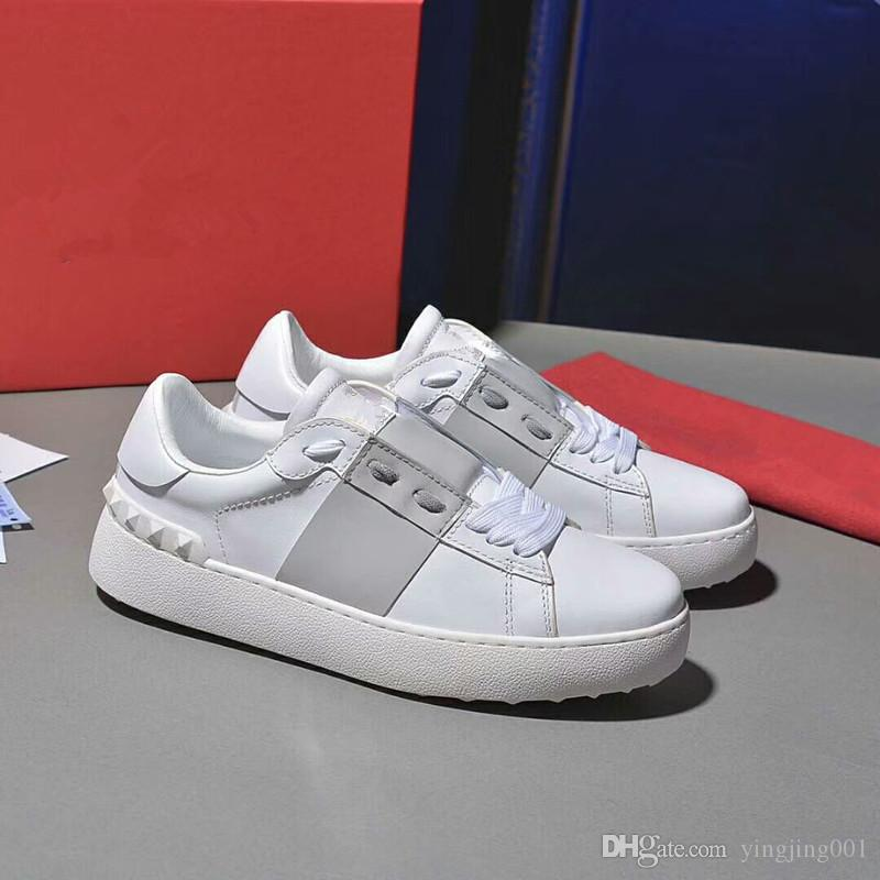 307f1da10a9 2018 Luxury Designer Rock Stud Sneaker Shoes High Quality Women