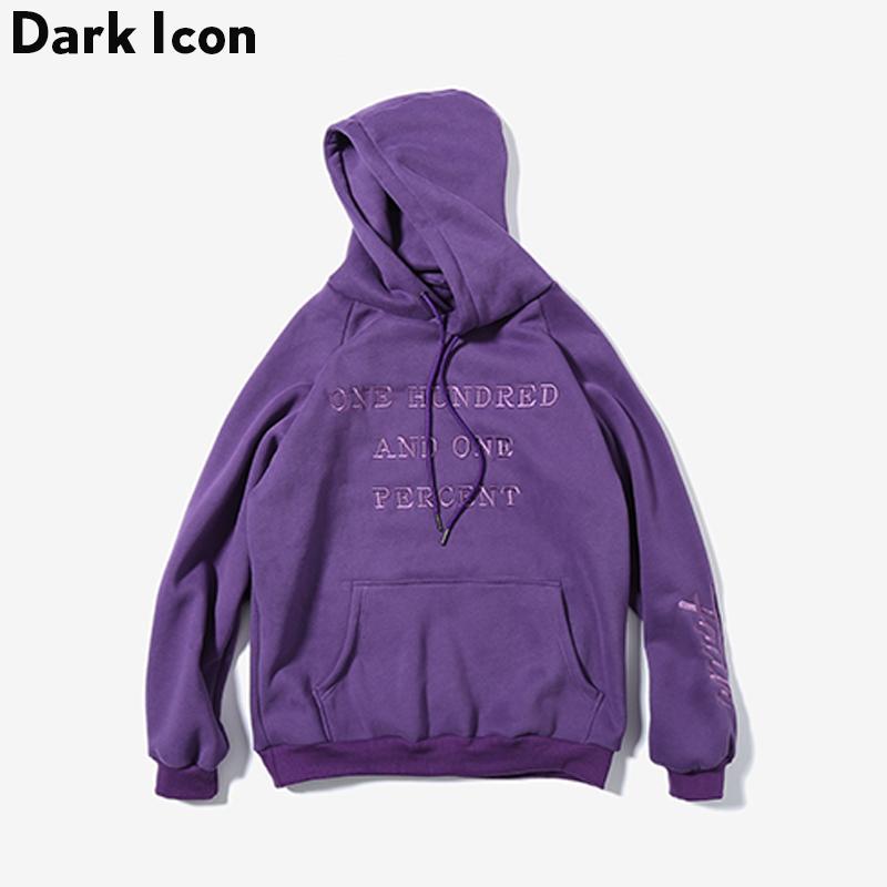 2018 Wholesale Letter Embroidery Fleece Material Men'S Hoodie 2017 Winter  Streetwear Loose Style Off Shouder Hoodies Men Black Purple Red From Maoku,  ...