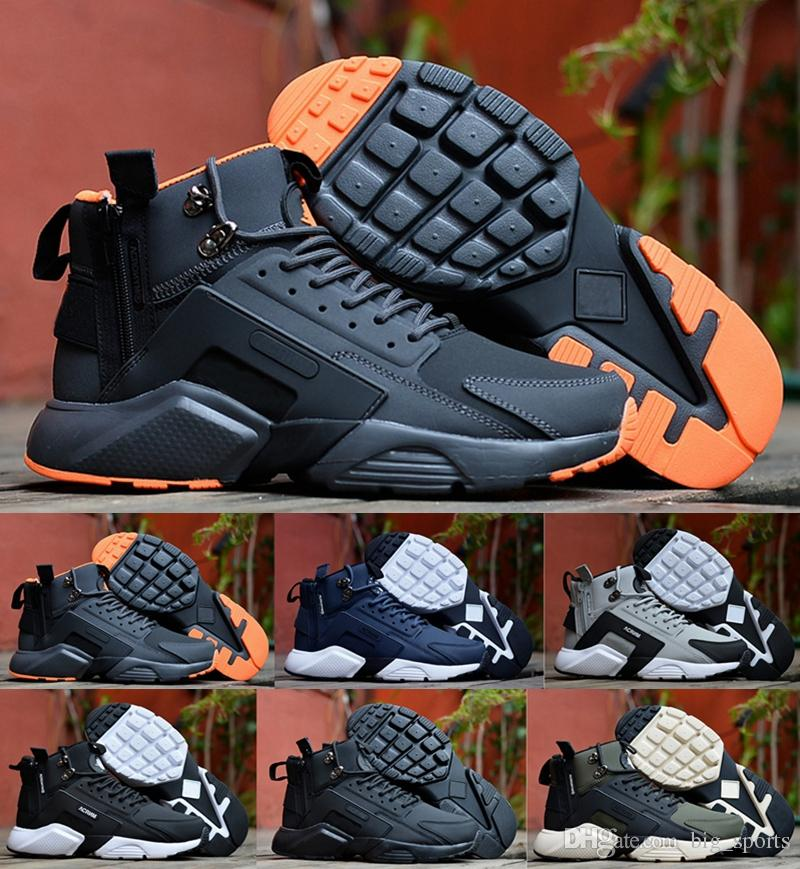 huge discount 90563 d6f0d 2018 Air Huarache 6 X Acronym City MID Leather Men Running Shoes Cheap  Huaraches Mens Sneakers Huraches Fashion Trainers Sports Shoes 40 45 Mens  Sneakers ...