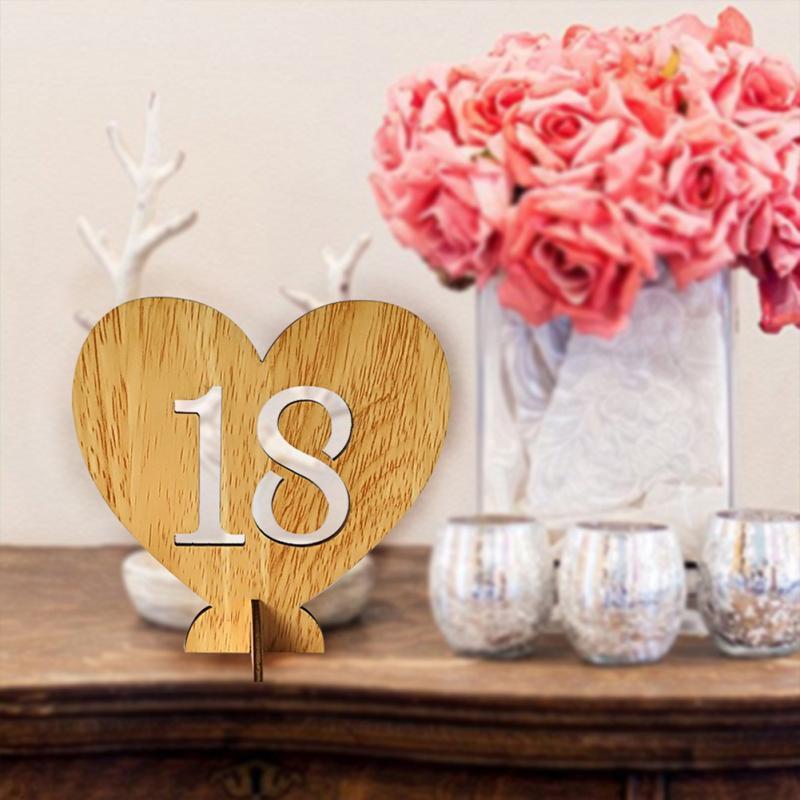 Grosshandel 1 To 20 Hochzeit Supplie 20 Stucke Holztisch Zahlen Mit