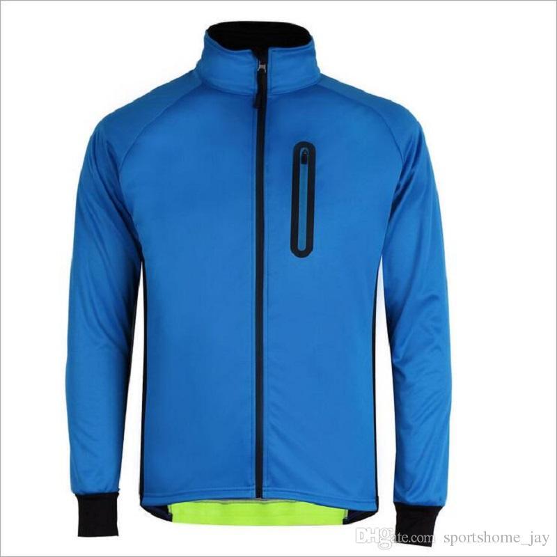 Mens Ropa Ciclismo Vestes Cyclisme Coupe-Vent Imperméable Manteau Garder Au Chaud Vert Bleu Printemps Automne Hiver Vêtements de vélo
