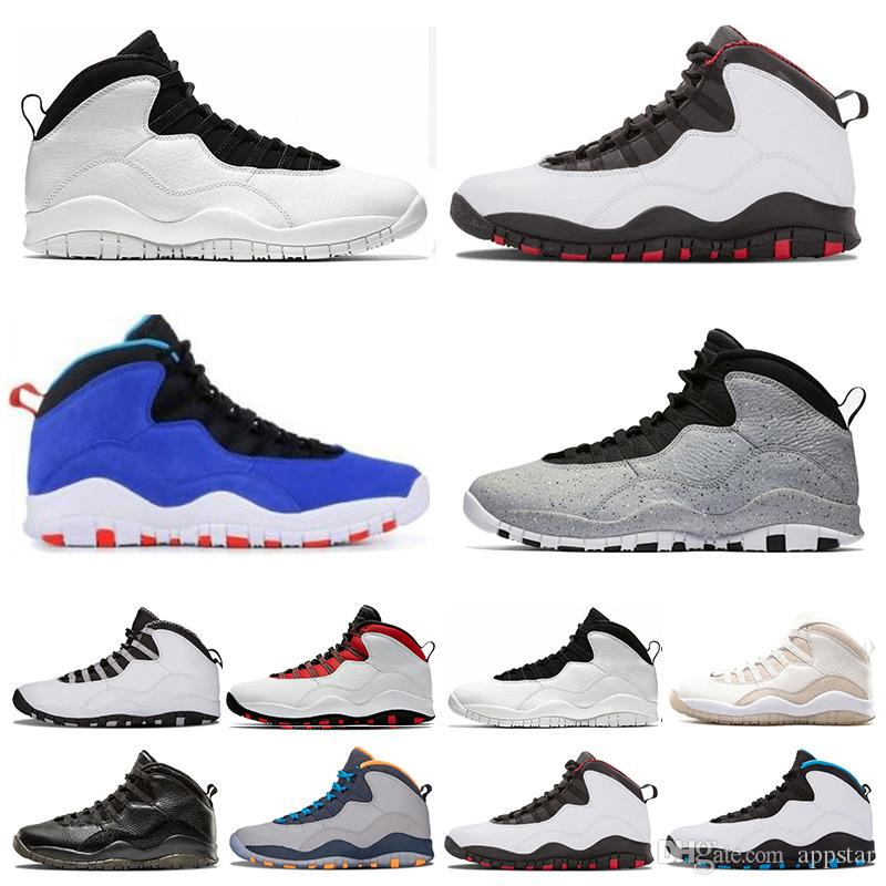 20bb3280b8d7 New 10s Mens Basketball Shoes Tinker Cement Bobcats Grey Chicage ...
