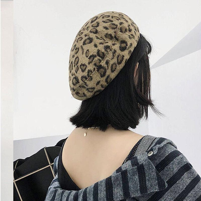 e2fee7a05a7b6 2019 New Women Girls Chic Leopard Print Berets French Style Vogue Wool Soft  Winter Warm Beret Beanie Hats Caps Hot Sale From Baozii