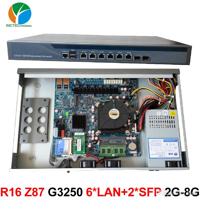1U Server Case with 6 82574L Gigabit Ethernet 2 SPF Ports Intel B85 Express  Chipset one Bypass