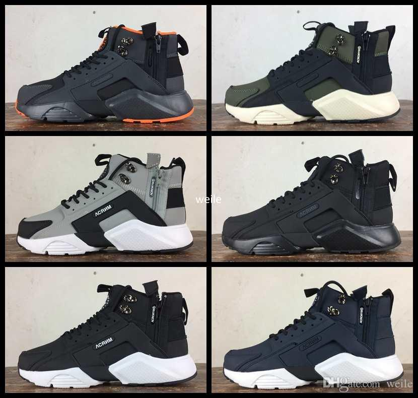 7bcf0642e9a 2017 New Arrival Air Huarache 6 X Acronym City MID Leather Running Shoes  For Men High Quality Huaraches Mens Huraches Sports Sneakers 40-45 Air  Huarache ...