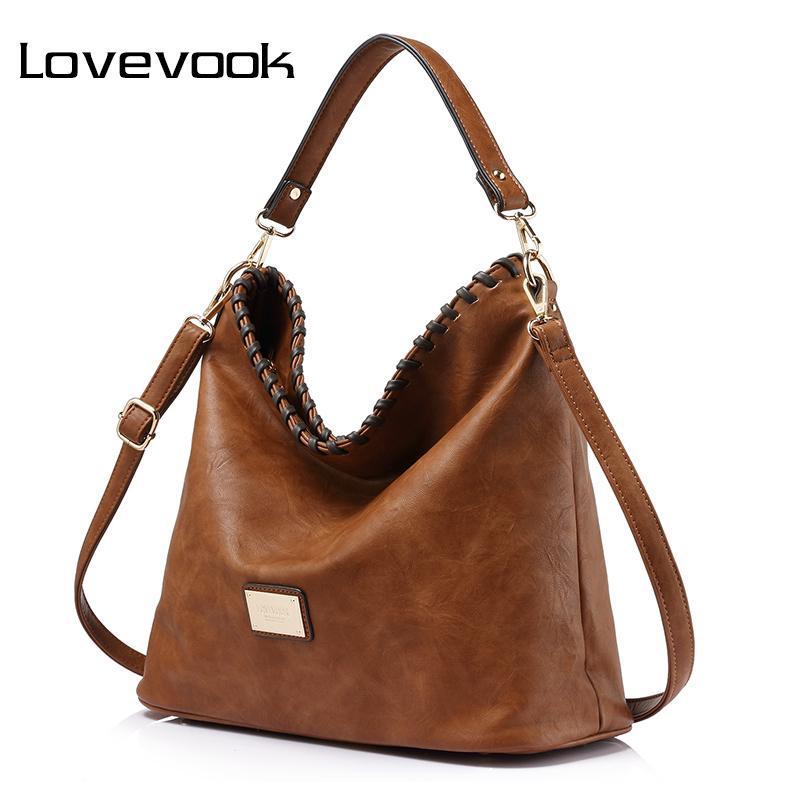 6b2f25c79c12 LOVEVOOK Women Large Capacity Women Shoulder Bag Female Casual Tote Hobos Handbag  Famous Brands High Quality Messenger Bags Women Shoulder Bag Brand ...