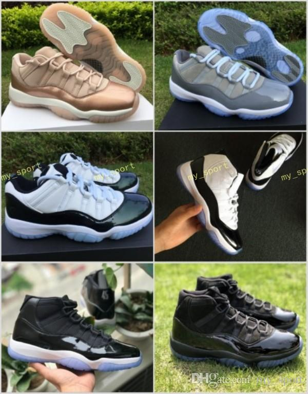 11 Low Easter Emerald Green Cool Grey Rose Gold Space Jam Gamma Blue  Concord 45 Basketball Shoes Men Women XI Perfect 11s Sneakers Women  Basketball Shoes ... 7a5b894f41