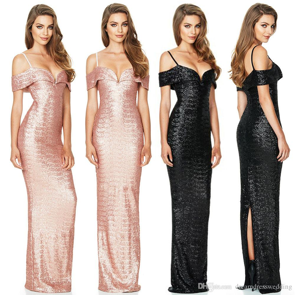 2018 New Spring Summer European And American Prom Dresses Sequined ...