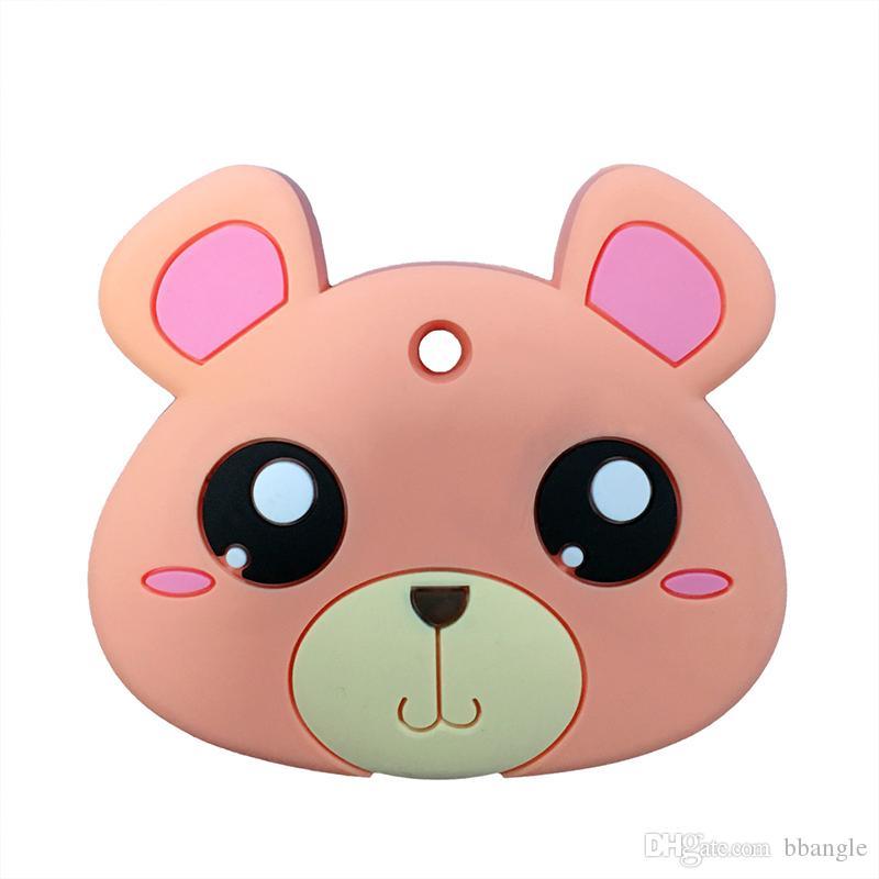 Teddybär Beißringe Silikon Kinderkrankheiten Spielzeug Lebensmittelqualität Silikon Anhänger Halskette Infant Start Zähne kauen Beißring sensorische Baby Geschenk