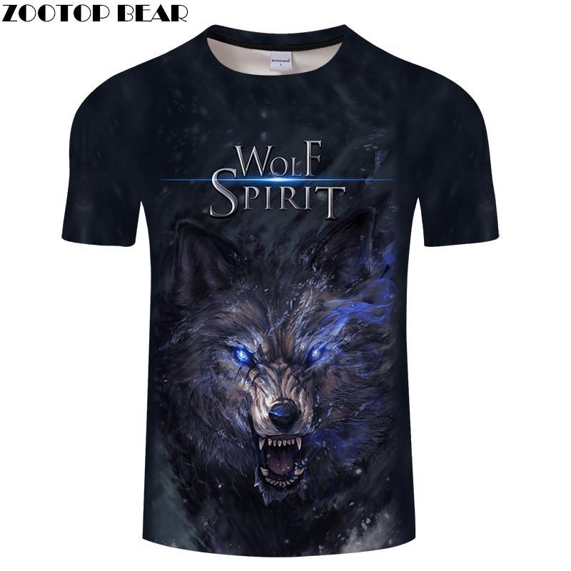 Compre 3d Wolf Camiseta Camiseta Divertida Hombres Camiseta De Las Mujeres  Camiseta De Verano Otoño Manga Corta Top Streatwear Camiseta O Cuello  Dropship ... 58eb8071d71cd