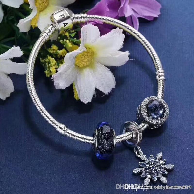 Großhandel Top Qualität 1: 1 Weihnachten Schnee Pandora Armbänder ...
