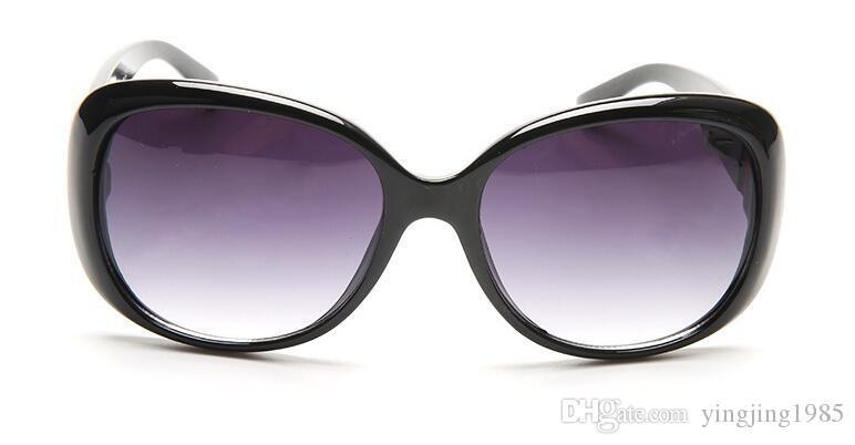 Gafas de sol de mujer Moda Redonda Señoras Vintage Retro Diseñador de marca De gran tamaño Mujer Deporte Gafas de sol 3660