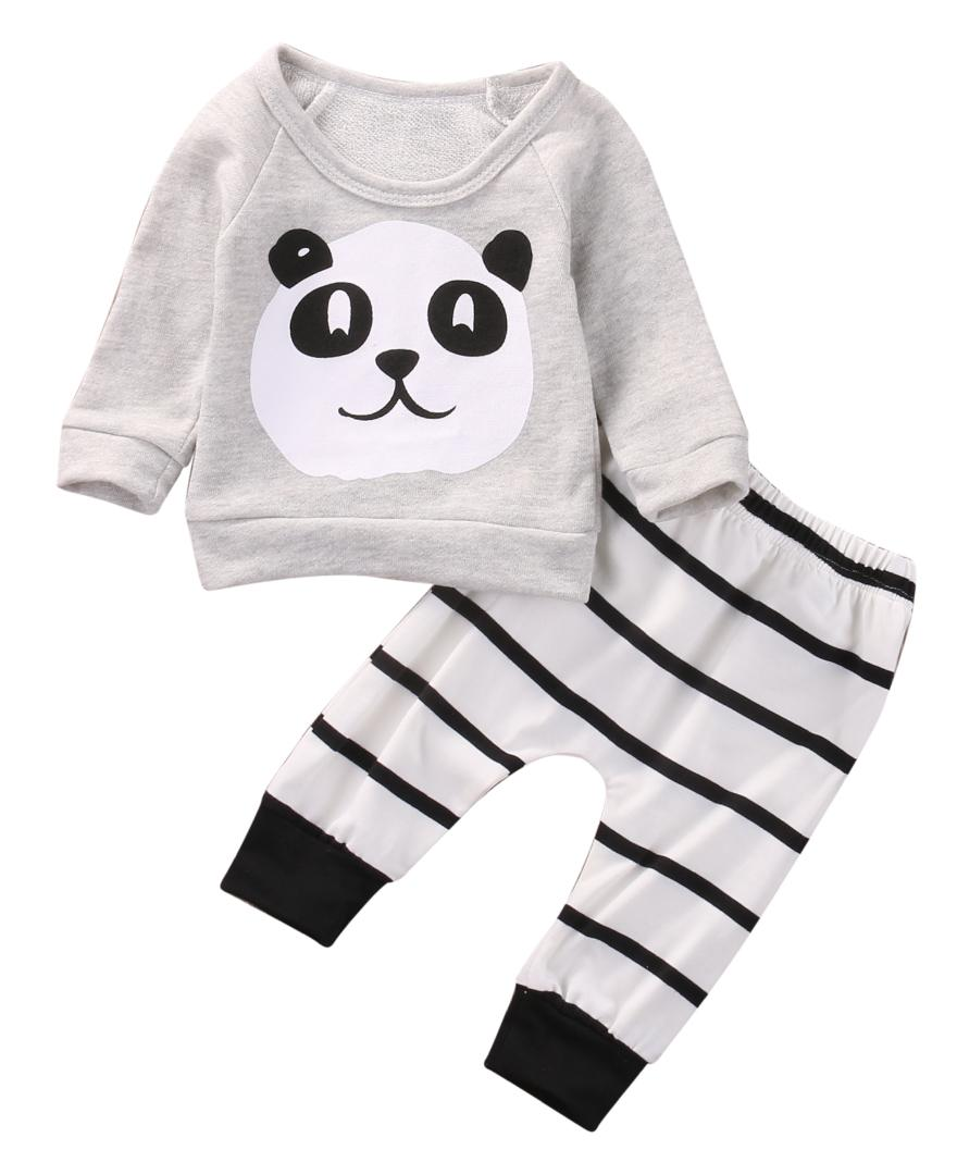 03ef23b0f40 2019 Newborn Infant Baby Boy Girl Kid T Shirt Long Sleeve Tops Pants Outfit  Set Clothes Casual Spring Autumn From Babyeden