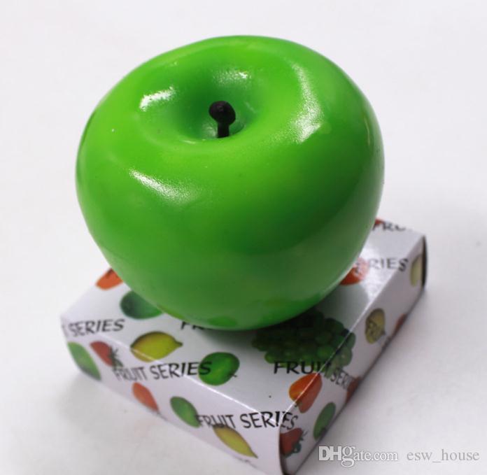 شموع فاكهة تفاح على شكل شمعة معطرة مهرجان بوجي جو رومانسي حفلة عيد الميلاد الديكور ديكور رأس السنة