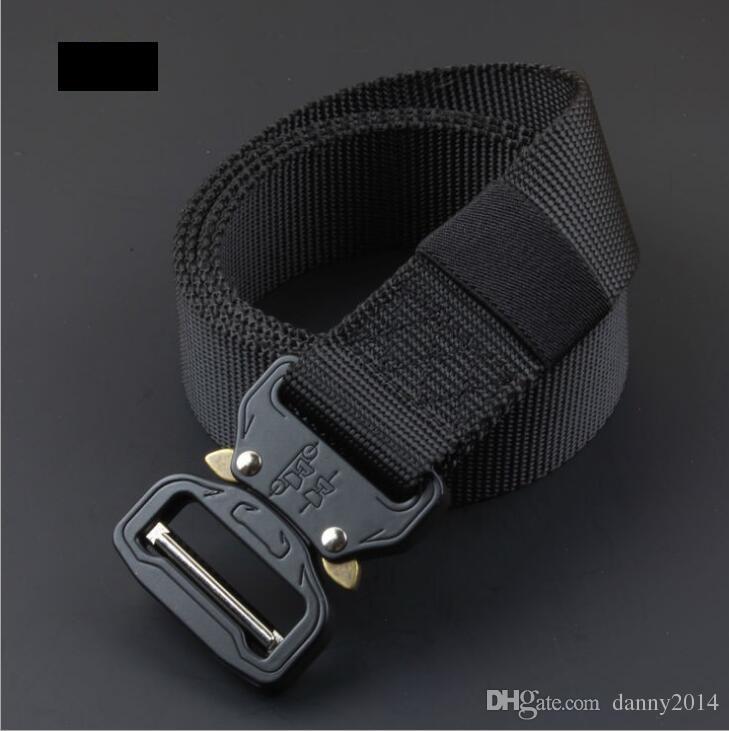 Cintura tattica Fibbia in metallo con inserti in tela canvas Cinture di addestramento Cinture da caccia tattiche militari uomo Cinturino da uomo di migliore qualità