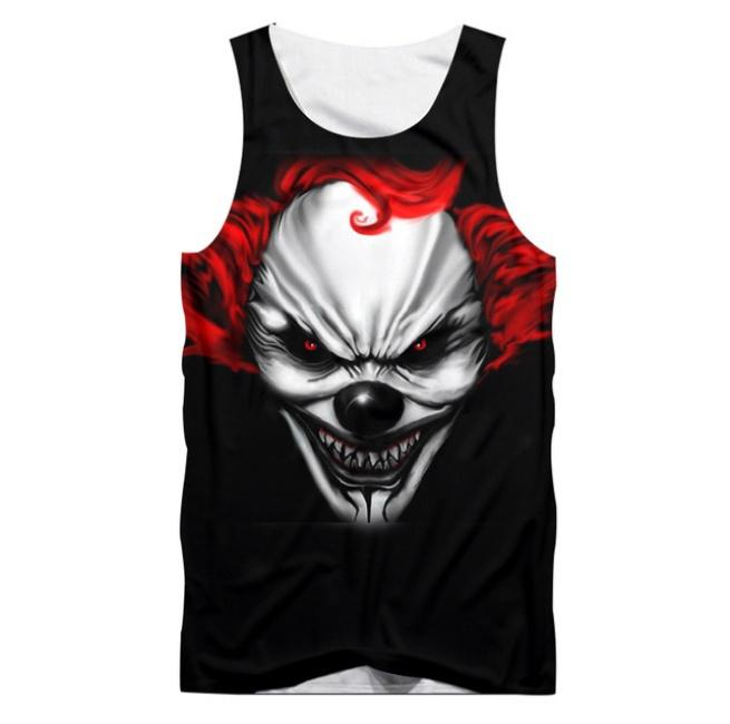 ae26d8fe810dd 2019 Halloween Tank Tops Men Summer Cool Print Suicide Squad Jokers 3D Vest  Male Hip Hop O Neck Singlets Mens Gyms Clothing From Fashion5dstore