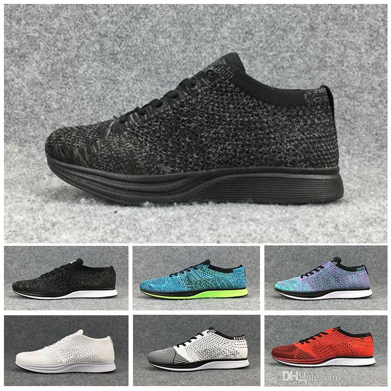 énorme réduction bea20 24b8b Nike Flyknit Racer Be True 2018 nouvelle arrivée originale Mariah Fly Racer  femmes mens athlétique chaussures de sport noir blanc rouge Zoom Racers ...