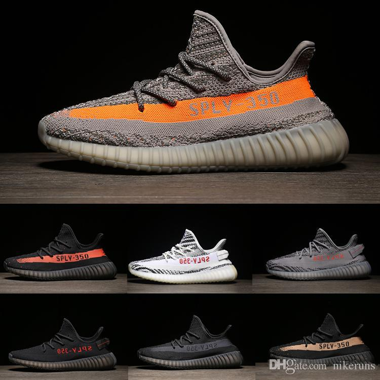 online retailer 63724 f111d Compre Adidas Yeezy NMD Boost Descuento Butter Sesame 350 V2 V1 Sneakers  Blue Tint Blanco Womens Designer Shoes 2018 Running Shoes Hombres Mujeres  Zebre ...
