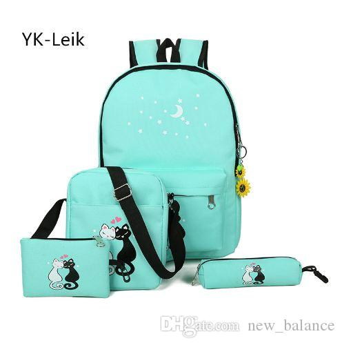 YK-Leik 2017 Korean Fashion Cute Cartoon School Bags for the Girls ... ca2e54152e1a0