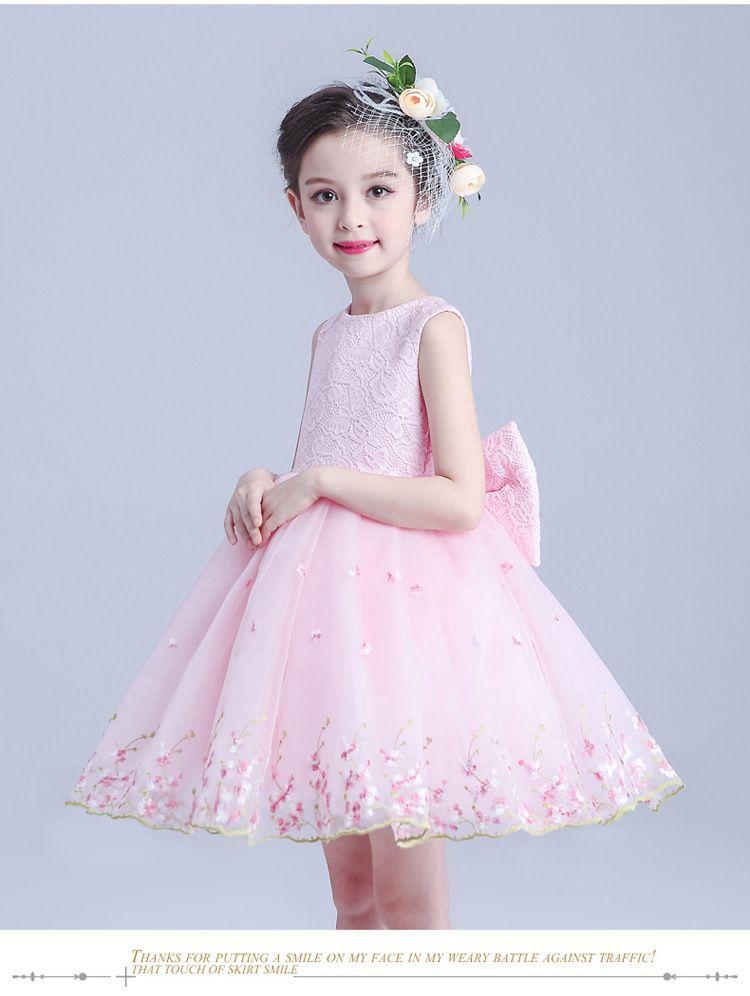Yeni Kız Elbise Moda 2017 Yaz Çocuk Giyim Prenses Kız Parti Elbise Kostüm Çocuklar Kızlar Için Gelinlik Giysileri