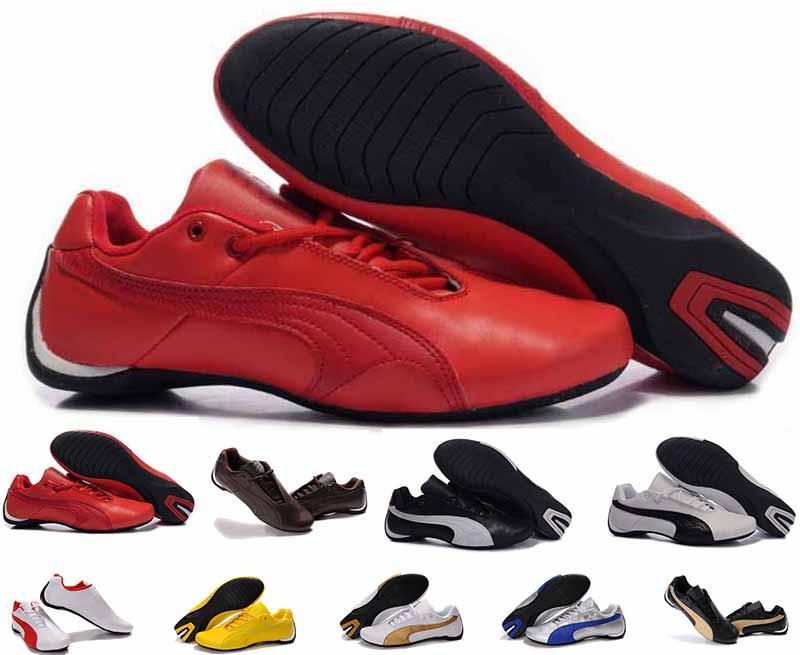 fe9ebd2d5 Compre Zapatos De Carreras De Cuero PumaFerrari De Calidad Superior Para Hombre  Zapatos De Cuero Ocasionales De Lujo Para Mujer Classic Envío Gratis 36 46  A ...