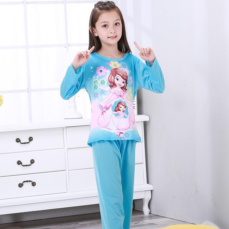 d402a046 Compre New Listing 2018 Otoño Invierno Bebé Ropa De Dormir Traje Gilr Lindo Pijamas  Calientes Niños Pijamas Chicas Dibujos Animados Lounge Niños Ropa ...
