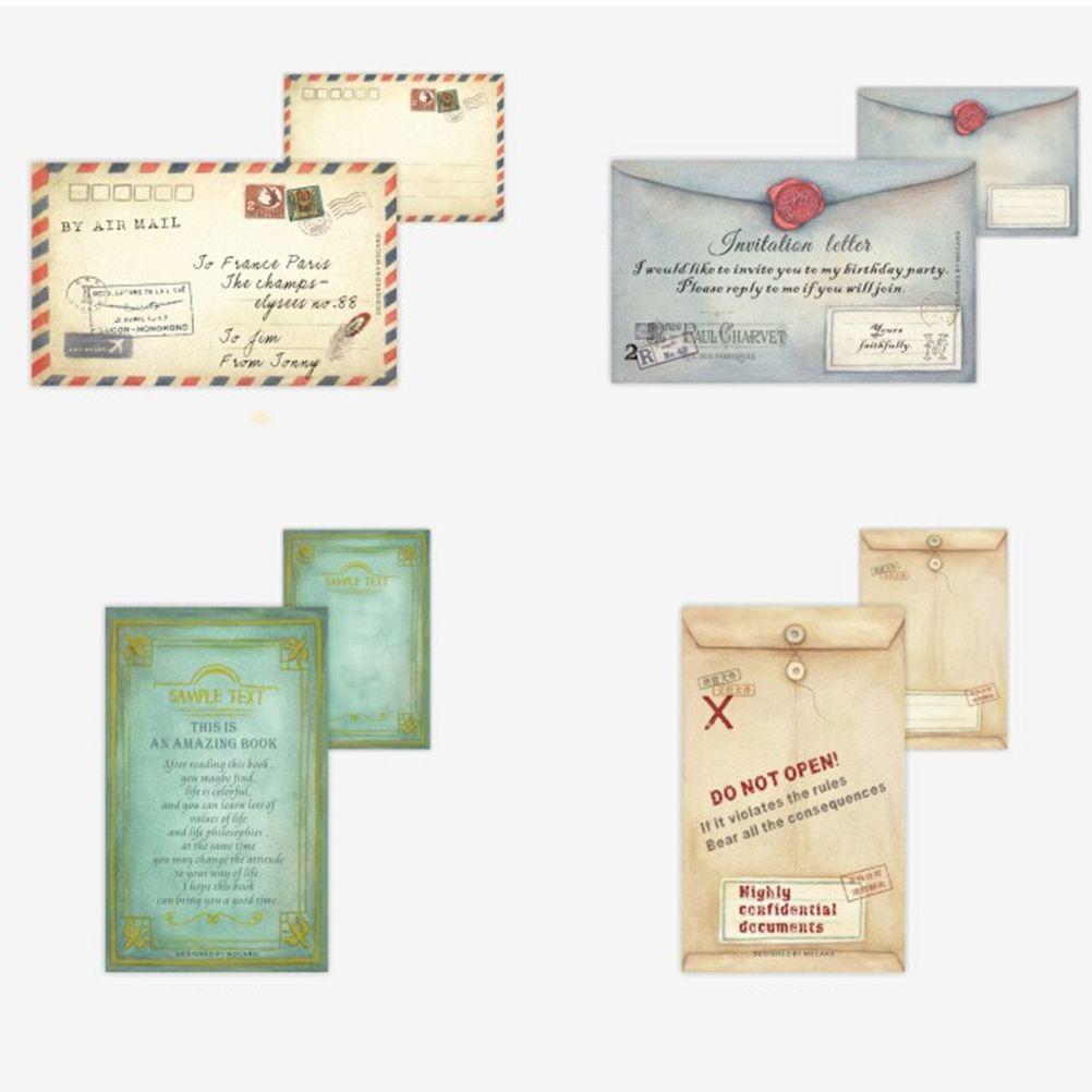 2018 mini retro vintage kraft paper envelopes korean stationery gift
