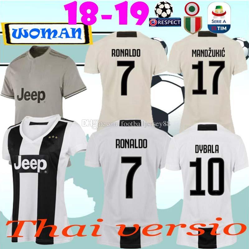 eed618448 women soccer jerseys juventus mandzukic bernardeschi home 2018 19