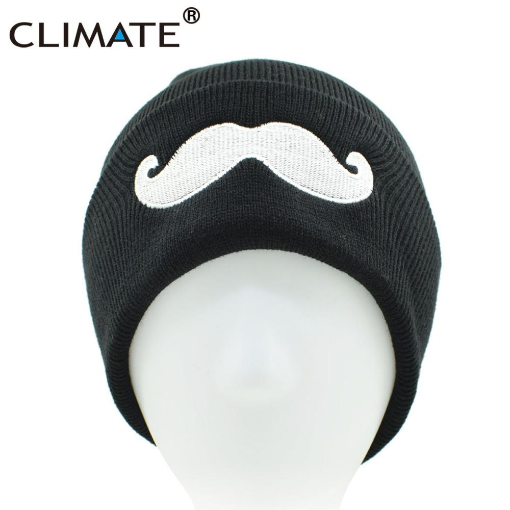 ecee88106f5 2019 CLIMATE Men Women Cute Black Beanies Mustache Winter Warm Knitted Hats  Beanies 2018 Hip Hop Hat Beanie For Adult Teenagers Boy From Enjoyweekend