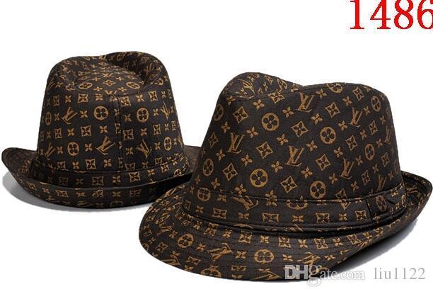 ec3a51f89df Brand Designer Leather Letter Bucket Hat For Mens Womens Foldable ...