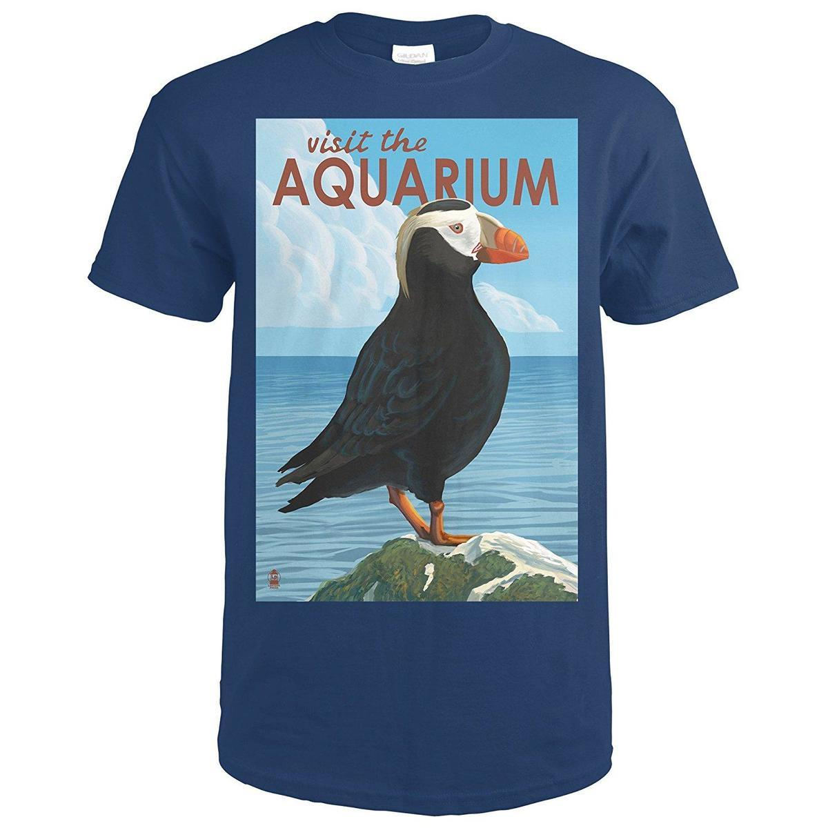 fc0ac1b3 Tufted Puffin Visit The Aquarium Premium T Shirt Funny Tee Shirts Mens T  Shirt From Yuxin05, $13.8| DHgate.Com