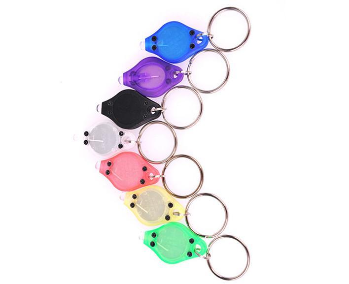 mini portachiavi di moda mini torce a buon mercato rivelatore di soldi UV LED portachiavi luce multicolore piccolo regalo all'ingrosso 100 pz