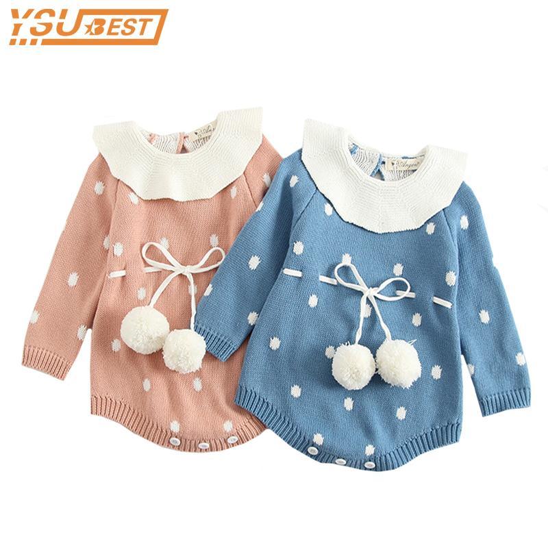 4edfd568e9f6 2019 Baby Body Suits 2018 Autumn Winter Baby Knit Romper Triangle ...