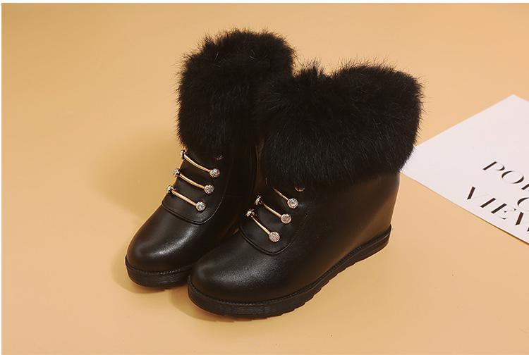 platform boots women wedges ankle boots for women snow boots winter shoes women botas plataforma mujer 2018