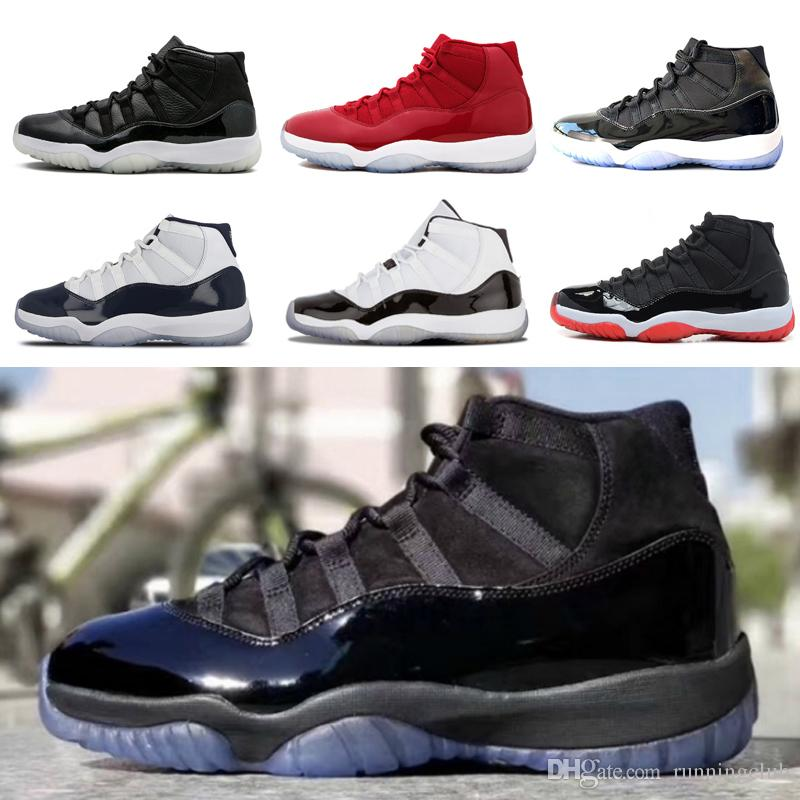 Wholesale 11 11s Prom Night Mens Basketball Shoes Men Women Blackout Gym  Red Midnight Navy Space Jam Concord Bred Gamma Blue Sport Sneaker  Basketball Shoes ... 5a04a58e53b6
