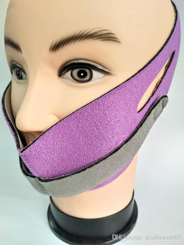 50pcs DHL Face Lift Tools Thin Face Mask Slimming Facial Thin Masseter Double Chin Skin Thin Face Bandage Belt Women Skin Care Beauty Kit