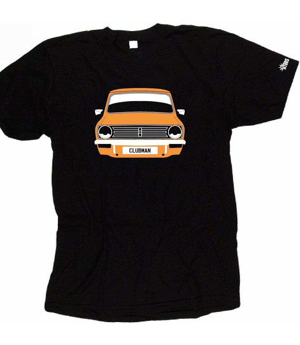 Custom Htees T Shirt Mini Clubman 1275 Gt Classic Pick Car Colour