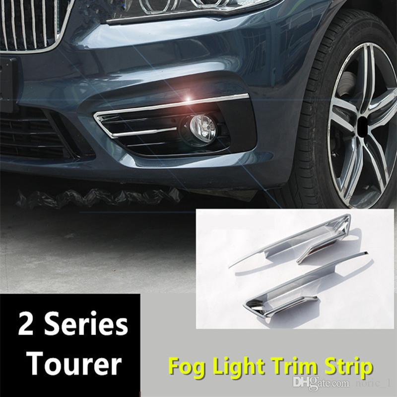 287123ae3d36 Chrome Styling Front Fog Light Decorative Frame For BMW 2 Series ...