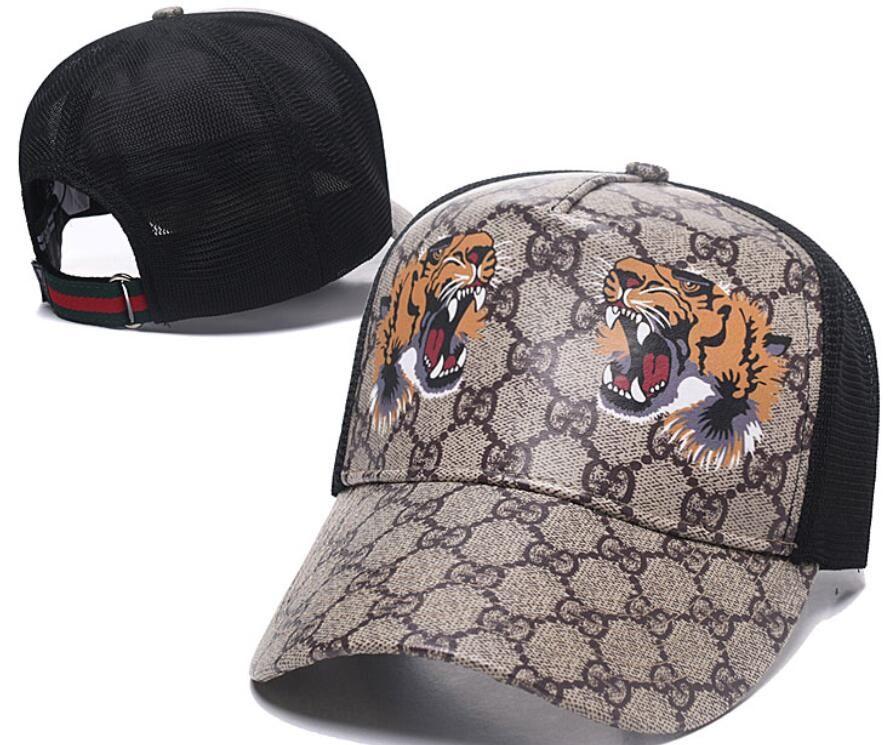 4ba0ce1f9e5 2018 Designer Mens Baseball Caps New Brand Tiger Head Hats Gold Embroidered  Bone Men Women Casquette Sun Hat Gorras Sports Cap Drop Shipping UK 2019  From ...