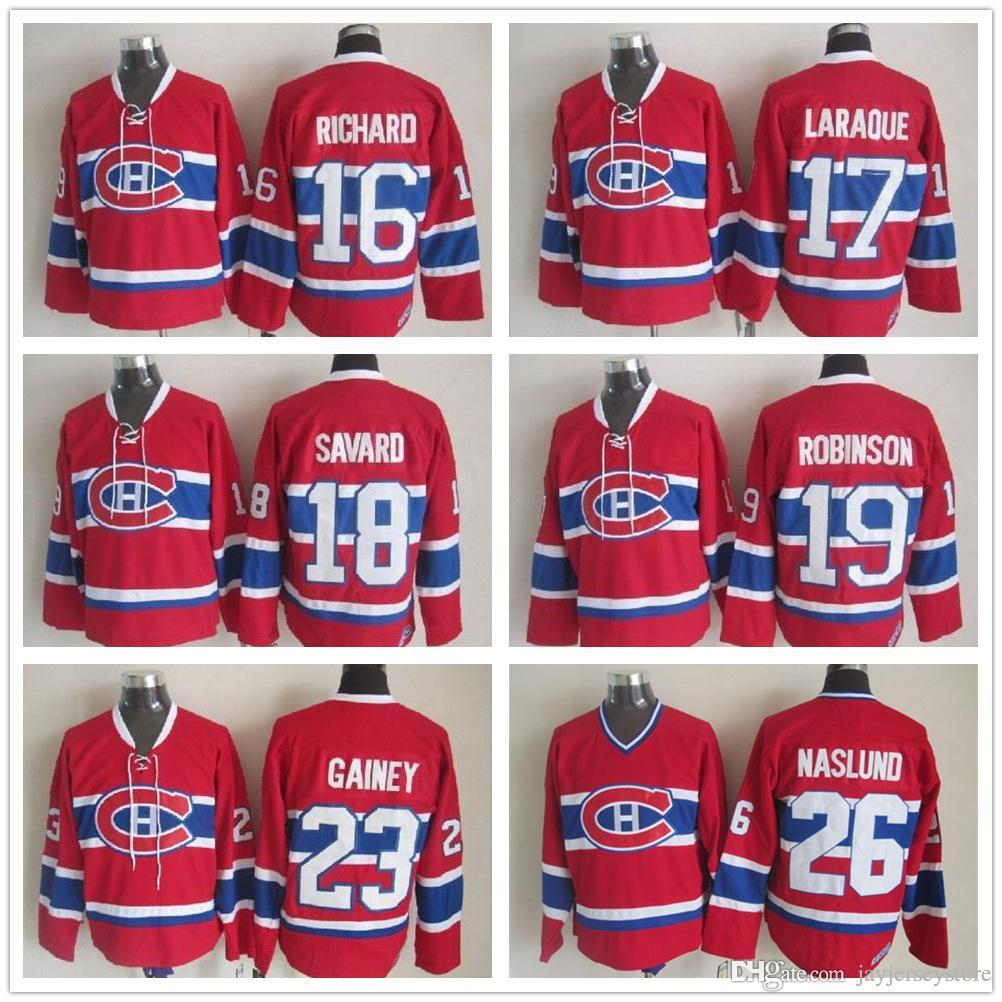 ee0985486fa ... amazon 2018 montreal canadiens jerseys ccm old time ice hockey 16 henri  richard 18 serge savard