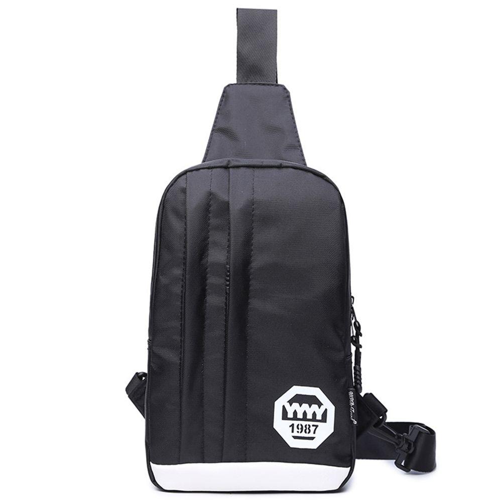 cc929af586 Leisure Sports Chest Bag Headphone Hole Messenger Bag Men s Shoulder ...