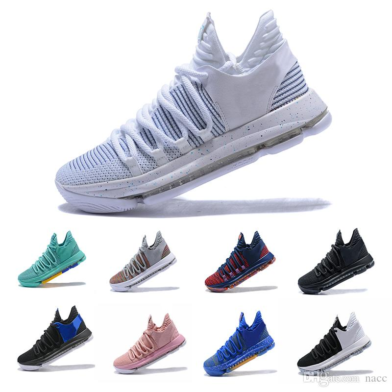 various colors 0e35e 7a361 2019 2018 Correct Version KD 10 EP Basketball Shoes Kevin Durant X Kds 10s  Rainbow Wolf Grey KD10 FMVP Sports Sneakers US 7 12 From Nacc,  93.61    DHgate.