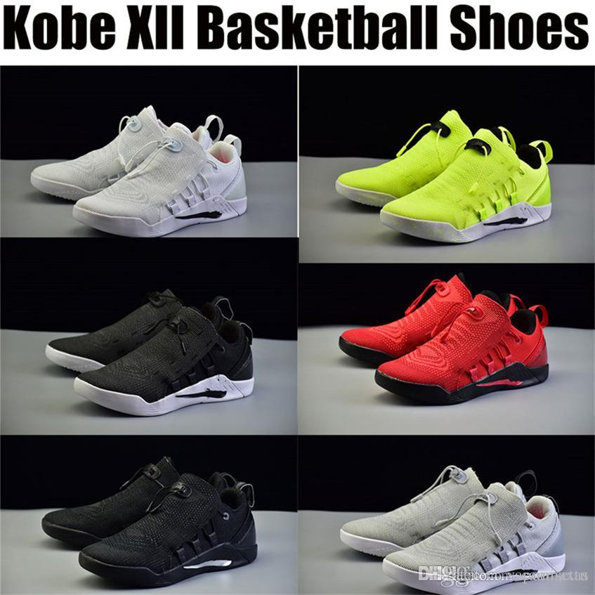 c5bd40d79a4a Cheap Kobe 12 Bryant XII Black Shoes Basketball Slippers Trainers Men s Dark  Jerseys Low Outdoors Indoors Sports Exercise Original
