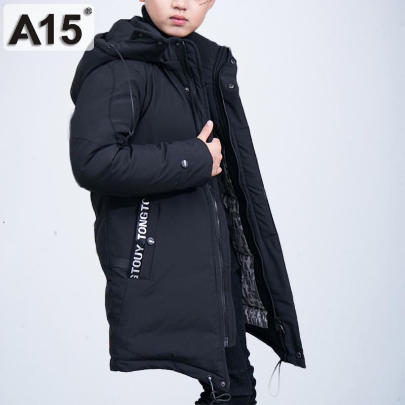 2a12afd2d 2018 Russia Winter Boys Long Down Jacket Teenage Boy Warm Thick ...